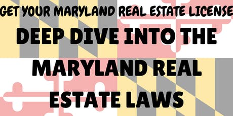 Boot Camp - Maryland Real Estate License Exam Review - Maryland Law tickets