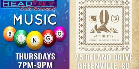 Music Bingo at el Thrifty Social Club - Greenville, SC  tickets