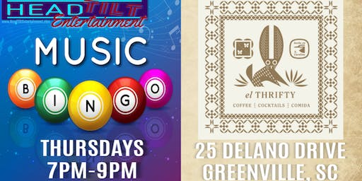 Music Bingo at el Thrifty Social Club - Greenville, SC