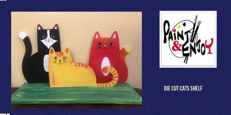 """Paint and Enjoy at Naylor Wine Shoppe """"Cat Lover's Wood Shelf"""" tickets"""