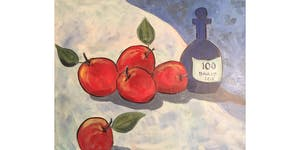 Apple Still Life after Cezanne Paint & Sip Night -...
