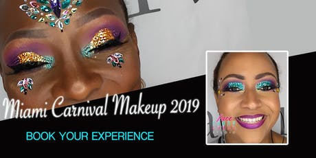 Glitter Boss Makeup for Miami Carnival 2019 tickets