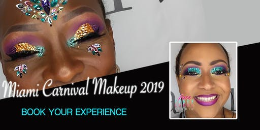 Glitter Boss Makeup for Miami Carnival 2019
