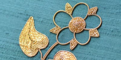 Stitching with Liz & Helen.....Goldwork (Box Decoration)