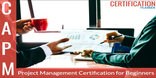 Certified Associate in Project Management (CAPM) Bootcamp in Hartford (2019)