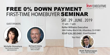Free 0% Down Payment and First-Time Homebuyers Seminar tickets