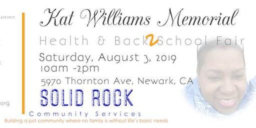 Kat Williams Memorial Health & Back2School Fair