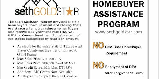 Down Payment Assistance & First home buyer Seminar
