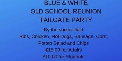 Blue & White Old School Reunion Tailgate Party