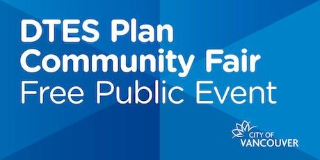Downtown Eastside Plan: Community Fair tickets