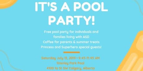 2019 Autism Calgary Pool Party tickets