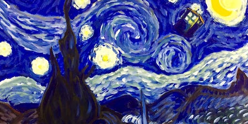 Van Gogh Meets Dr Who Paint & Sip Night - Snacks Included