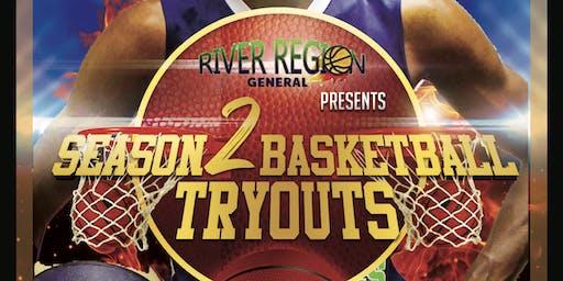 River Region Generals Season 2 Basketball Tryouts