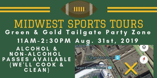 Green & Gold Tailgate Zone- Green & Gold Weekend