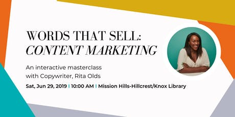 Words That SELL: Content Marketing tickets