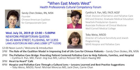 """When East Meets West"" - Health Professionals Cultural Competency Training tickets"