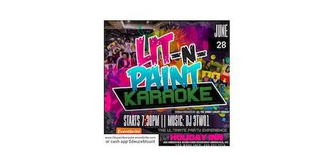 LIT N PAINT KARAOKE: The Ultimate Paint N Karaoke Party tickets