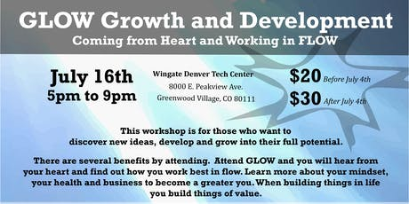 GLOW Growth and Development Workshop Denver tickets