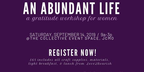 An Abundant Life Workshop tickets