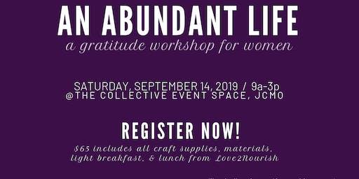 An Abundant Life Workshop