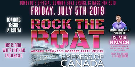 ROCK THE BOAT: ALL WHITE AFFAIR   Rooftop Party tickets