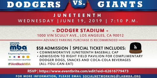 NBMBAA Los Angeles Chapter: 2019 Juneteenth Celebration at Dodger Stadium