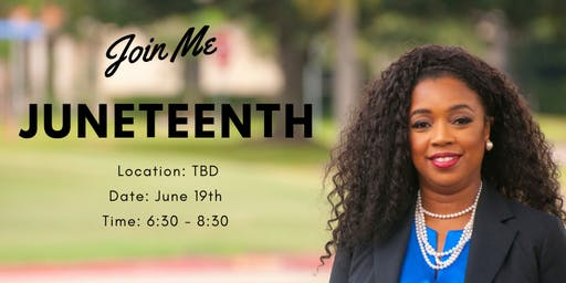 "Meet and Greet for Juneteenth with Laquitta ""Sarah"" DeMerchant"