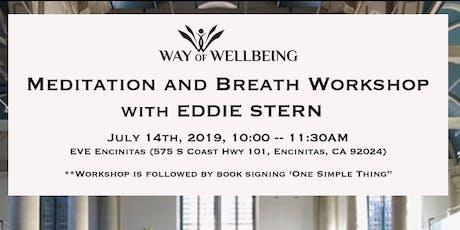 Meditation & Breath Workshop with Eddie Stern tickets