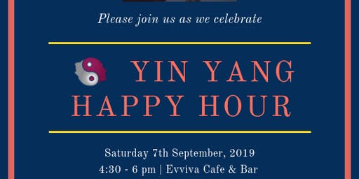 YIN YANG Happy Hour: 7th September 2019