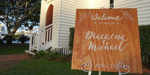 Wedding Signage Workshop