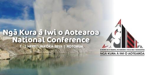 Ngā Kura ā Iwi o Aotearoa National Conference 2019