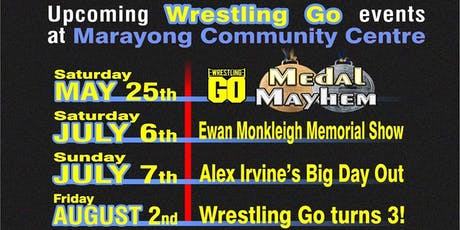 Wrestling GO: Alex Irvine's Big Day Out  tickets