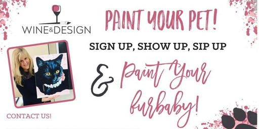 Wine & Design - Paint Your Pet on October 3 (Register by September 22)
