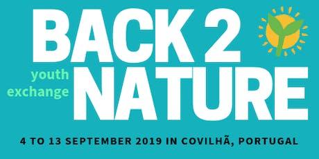 Back2Nature - scambio giovanile Portogallo bilhetes