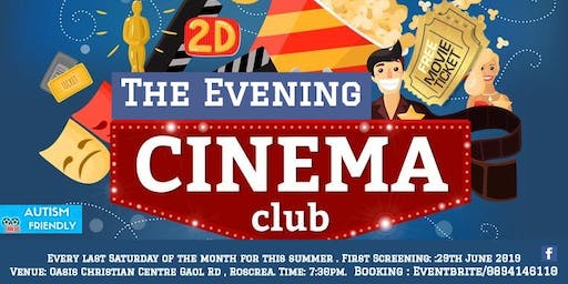 Roscrea Cinema Club- (The Evening Cinema Club)June 2019