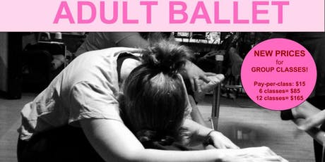 BALLET - Beginner for Adults & Teens - Sundays 3pm tickets