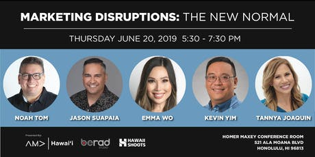 Marketing Disruptions: The New Normal tickets