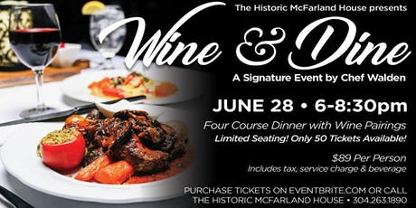 Wine & Dine A Signature Event with Chef William Walden tickets