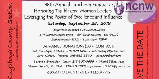 Cuyahoga County Section, NCNW INC. 38th Annual Luncheon Fundraiser