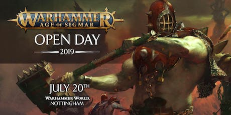 Warhammer Age of Sigmar Open Day 2019 tickets