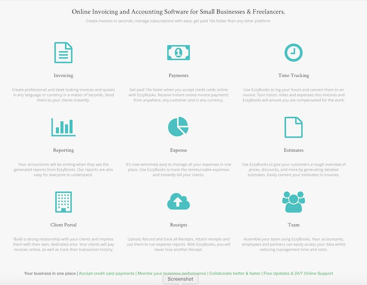 EzzyBooks Product Launch - Online Billing and Accounting