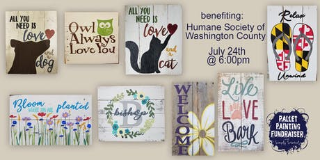 Humane Society Pallet Painting Fundrasier tickets