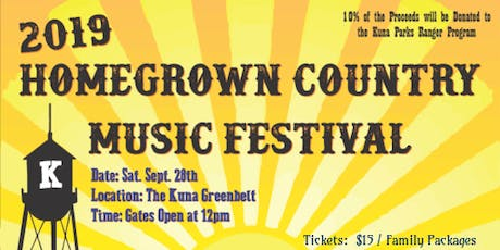 HomeGrown Country Music Festival tickets