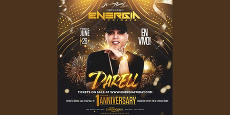 "Rumba Room's  Energia Friday's 1 Year Anniversary Performing Live ""Darell"" tickets"