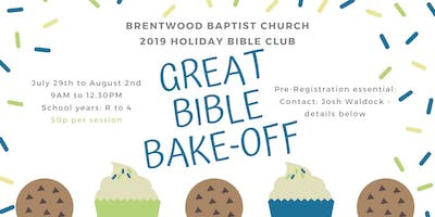 The Great Bible Bake Off 2019