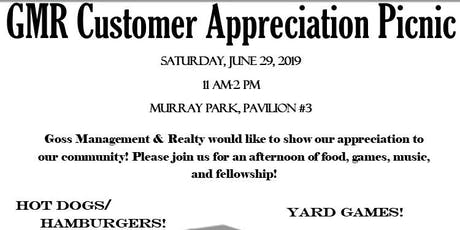 GMR Customer Appreciation Picnic entradas