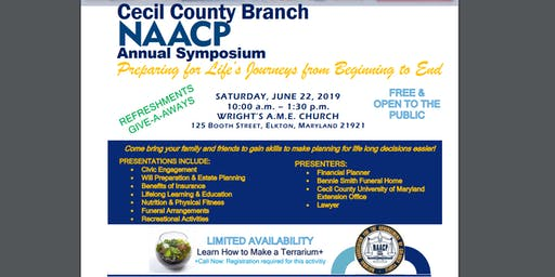 NAACP Cecil County Annual Symposium - Preparing for Life's Journeys