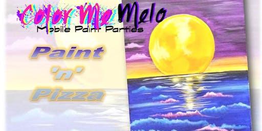 "PAINT 'N' PIZZA! in Fontana, CA ""Moonlight Bay"""
