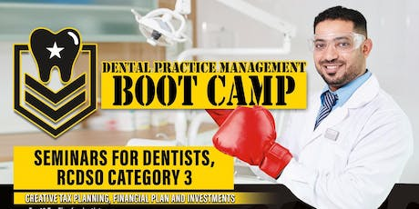 Dental Tax and Legal Management-BOOTCAMP-RCDSO CE Credits-Monday September 16, 2019 tickets
