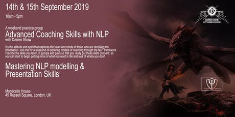 Advanced Coaching Skills with NLP tickets